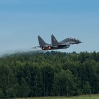 МиГ-29УБ РСК МиГ на взлете :: Дмитрий Бубер