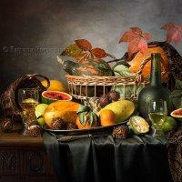 Вино и фрукты в осеннем колорите :: Татьяна Карачкова