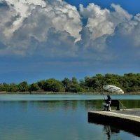 Рыбак у озера... :: Sergey Gordoff