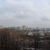 Москва,вид на Братеево из Зябликово панорама из 7 снимков :: Александр Качалин