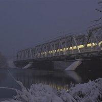 железнодорожный мост через реку Воронеж :: Сергей Алексеев