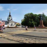 """Храм""""Утоли мои печали"""" и памятник Н.Г.Чернышевскому. :: Anatol Livtsov"""