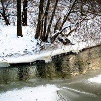 Хрустально-снежные оковы живой и трепетной реки. :: Александр Куканов (Лотошинский)
