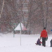 Прогулка в снегопад :: Татьяна Ломтева