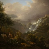 Авраам Тирлинк (1776-1857). Водопад в Тиволи, 1824 :: Елена Павлова (Смолова)