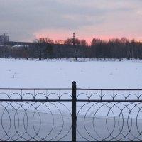 Декабрь. Рассвет над прудом :: Дмитрий Никитин