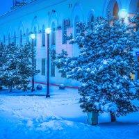 Вечер после снегопада. Спортивная набережная. Владивосток :: Эдуард Куклин
