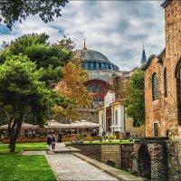 Вид на Айя Софию от стен Айя Ирины, Стамбул :: Ирина Лепнёва