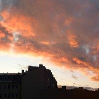 Закат над Питером. Из рабочего окна. :: Игорь Кудрявцев