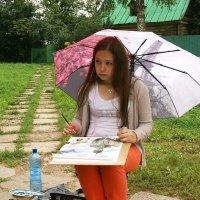 На пленэре в дождь... :: Татьяна Котельникова