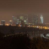 Ночная Москва-вид с Воробьёвых гор. :: Виктор Евстратов