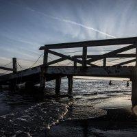 Закат берега Лидо-ди-Остия :: Анна Меркулова