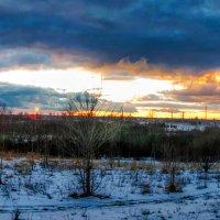 Суровый декабрьский закат. 13.12.2017 - 02 :: Анатолий Клепешнёв