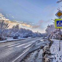 Кубань.ст.Саратовская. Первый снег 2017 :: Александр