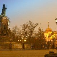 Встречая рассвет с Екатериной II :: Игорь Хижняк