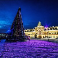 Вид на Нижегородскую ярмарку ночью :: Ирина Лепнёва