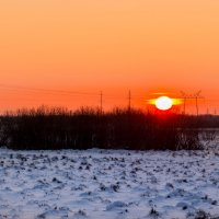 Декабрьский закат :: Андрей Кузнецов