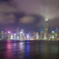 Лазерное шоу на берегу Гонконга :: Анатолий Иргл