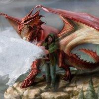 Девушка с красным драконом :: Виктория Переплетенко