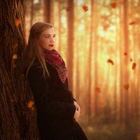 Девушка в осеннем лесу фото :: Василий Попов