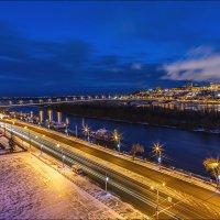 Вид на вечерний Нижний и Оку :: Ирина Лепнёва