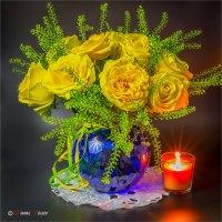 Натюрморт с желтыми розами :: Михаил Волков