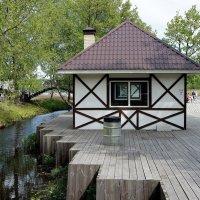 Уютные шашлычные домики на пирсе Колтушского озера :: Елена Павлова (Смолова)
