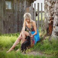 Девушка с собачкой :: Сергей Винтовкин
