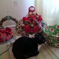 Прошу минутку творческого, перерыва промяукала кошечка Фрося! :: Ольга Кривых