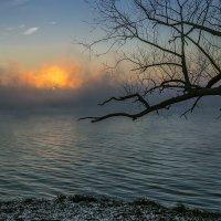 Зимний вечер на Нововоронежском водохранилище  2015г :: Юрий Клишин