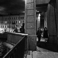 вечером на Ломоносовском мосту :: Елена