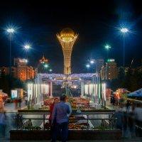 Ночной туризм, аллея скульптур и Байтерек :: Владимир Belov