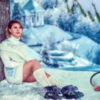 Девушка по деревом :: Вадим Аспин