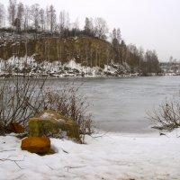 Зимнее мрачное утро. :: Анатолий Круглов