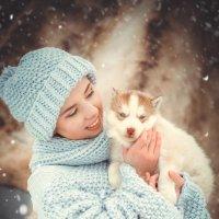 Портрет с щеночком :: Фотохудожник Наталья Смирнова