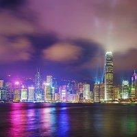 Световое шоу небоскрёбов Гонконга :: Анатолий Иргл