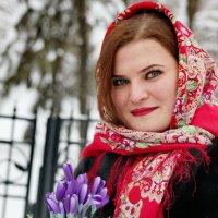 С цветами. :: Александр Бабаев