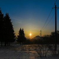 Зимнее солнце - рассвет... :: Алексей le6681 Соколов