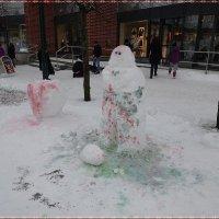 Забавный снеговик :: Вера