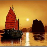 Scarlet sail. {работа выполненная на графическом планшете Huion.) № 4 :: Anatol Livtsov
