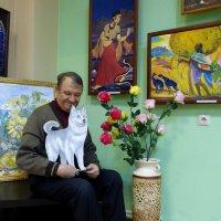 художник со своей собакой :: Лана Lana