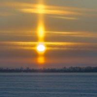 Февральский закат на Северной Двине. :: Алена Малыгина