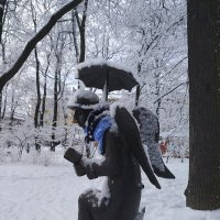 Петербургский ангел зимой :: Сергей К
