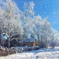 Зимнее утро в деревне :: Наталья Ерёменко