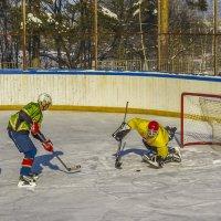 ...И голкипер забирает шайбу :: Сергей Цветков
