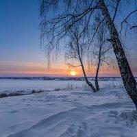 Морозный закат :: Сергей Добрыднев