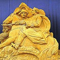 """Выставка песчаных скульптур: """" Века минувшие..."""" Полководец Суворов. :: Владимир Драгунский"""