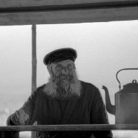 СССР. Промысловый рыбак с левого берега Волги. :: Игорь Олегович Кравченко