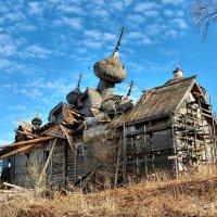 Палтога. Богоявленская церковь в 2009 году :: Сергей Никитин
