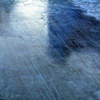 Лёд на спуске с горки. :: Евгений Меринов